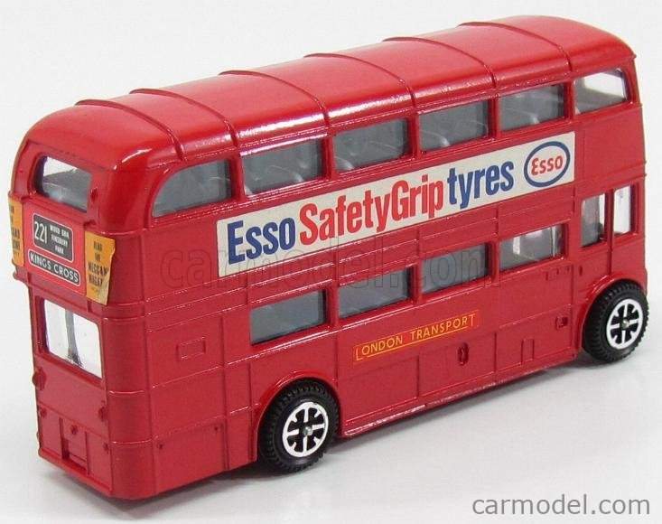 DINKY ENGLAND 289 Scale 1/50  ROUTEMASTER AUTOBUS LONDON TRASPORT ESSO 1956 RED