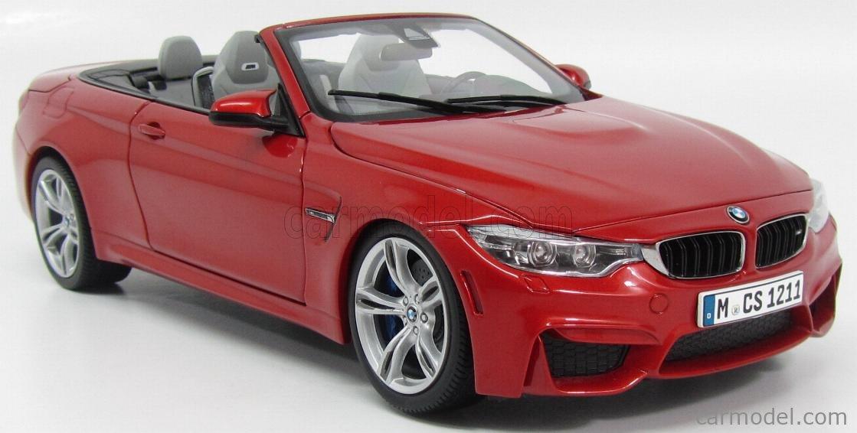 PARAGON-MODELS 97111 Scale 1/18  BMW 4-SERIES M4 CABRIOLET (F33) 2014 SAKHIR ORANGE MET