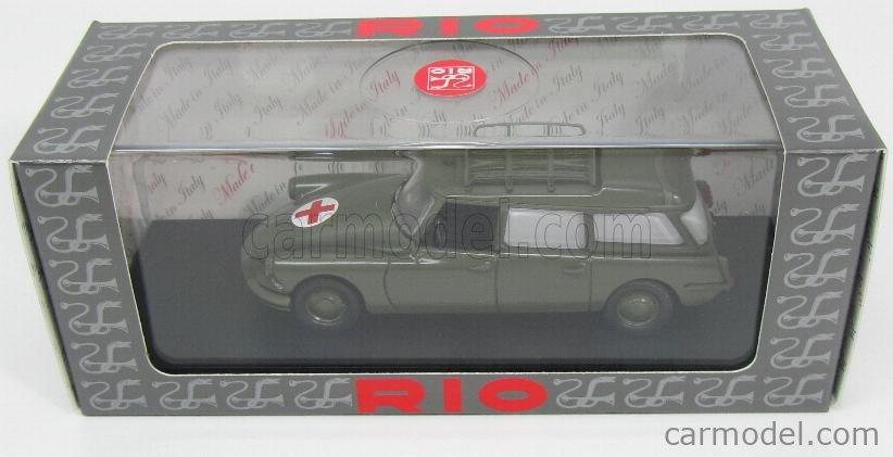 RIO-MODELS 4503 Scale 1/43  CITROEN DS19 BREAK MILITARY AMBULANCE 1960 GREEN