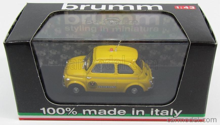 BRUMM R589 Echelle 1/43  STEYR-PUCH 500D OAMTC AUTOMOBIL CLUB AUSTRIA 1959 YELLOW