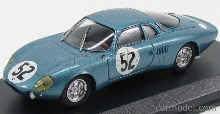 GTS GTS23.1 Scale 1/43  RENE BONNET AERODJET N 52 RETIRED 6th HOUR ACCIDENT LE MANS 1963 BLUE MET
