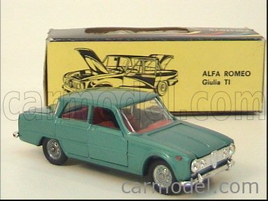 POLITOYS POLISTIL POLMS523 Scale 1/43  ALFA ROMEO GIULIA TI  (2 ISSUE RED INTERIOR) GREEN MET
