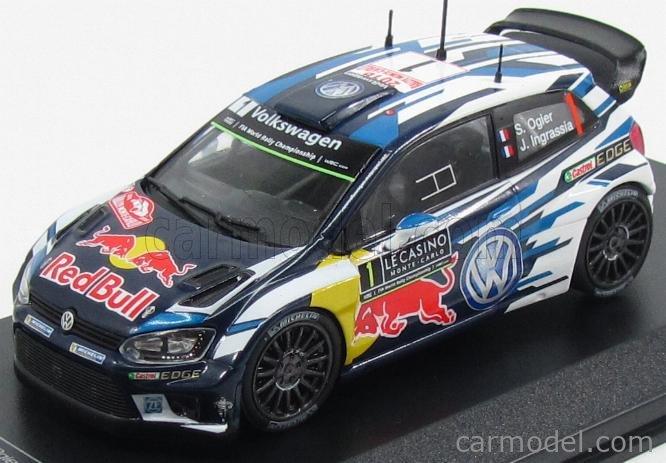 Rallye Monte Carlo 2015 Ogier//Ingrassia IXO 1:43 Volkswagen Polo R WRC