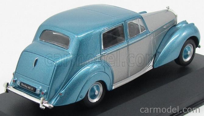 WHITEBOX WB185-208830 Echelle 1/43  BENTLEY MKVI 1950 LIGHT BLUE MET SILVER