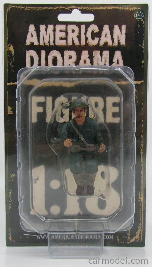 AMERICAN DIORAMA 77413 Echelle 1/18  FIGURES SOLDATO AMERICANO PASSEGGERO CON SIGARO - USA SOLDIER III SITTING WITH CIGAR MILITARY GREEN