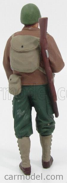 AMERICAN DIORAMA 77410 Echelle 1/18  FIGURES SOLDATO AMERICANO CON FUCILE - USA SOLDIER I WITH RIFLE GUN GREEN BROWN