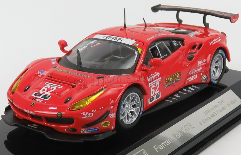 FERRARI 1//43 BURAGO 488 GTE 3.9L TURBO V8 TEAM RISI COMPETIZIONE N 62 BU3630